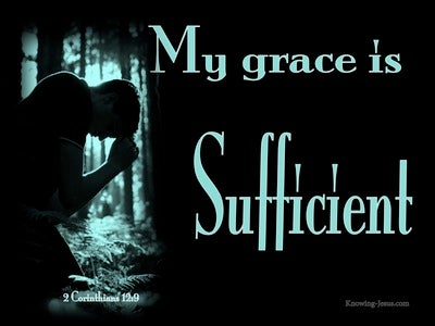2 Corinthians 12:9 My Grace Is Sufficient For You (aqua)