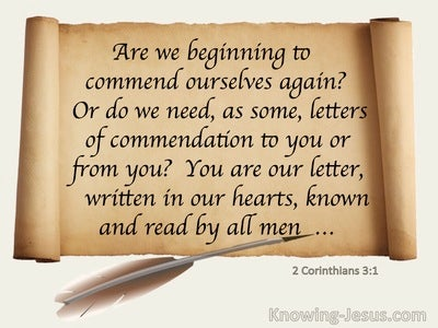 2 Corinthians 3:1 You Are Our Letter Written In Our Hearts Known And Read By Men (beige)