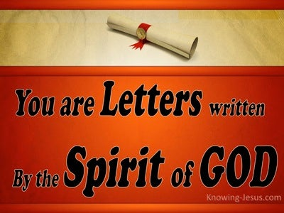 2 Corinthians 3:3 Letters Written On The Heart (red)
