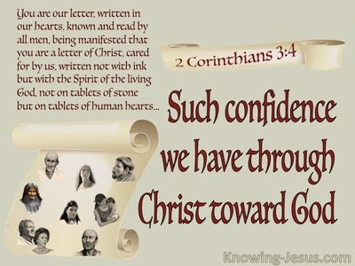 2 Corinthians 3:4 Confidence In God Through Christ (red)