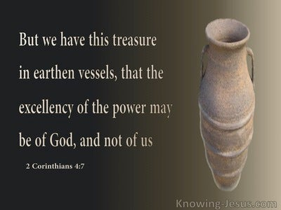 2 Corinthians 4:7 Treasure in Earthern Vessels (brown)