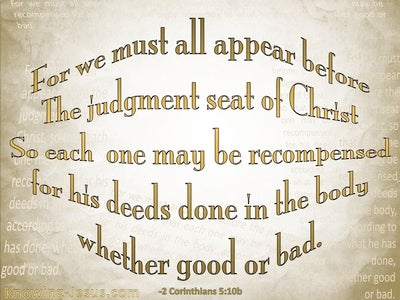 2 Corinthians 5:10 Judgement Seat Of Christ (beige)