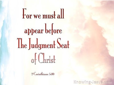 2 Corinthians 5:10 Judgement Seat Of Christ (pink)