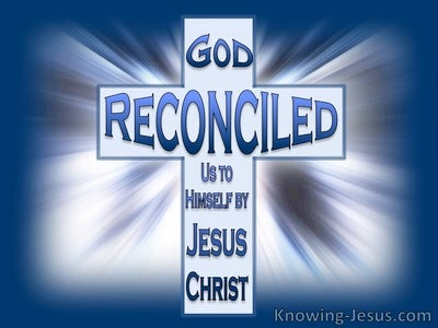 2 Corinthians 5:18 Be Reconciled (blue)