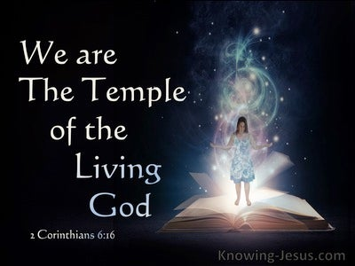 2 Corinthians 6:16 We Are The Temple Of The Living God (black)