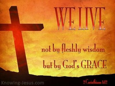 2 Corinthians 1:12 We Live by God's Grace (red)