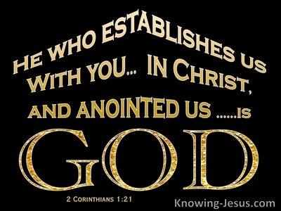 2 Corinthians 1:21 Established in Christ By God (black)