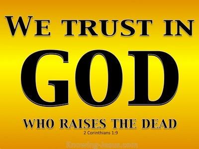 2 Corinthians 1:9 God Who Raises The Dead (gold)