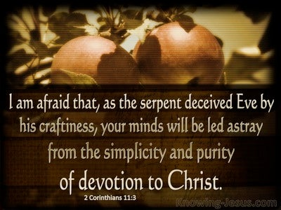 2 Corinthians 11:3 Do Not Be Led Astray (brown)