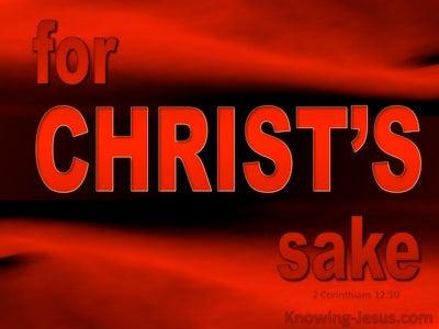2 Corinthians 12:10 For Christ's Sake (red)