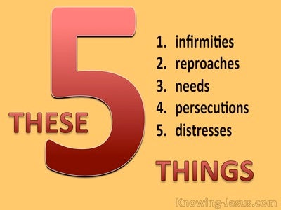2 Corinthians 12:10 These Five Things (devotional)02:01 (yellow)