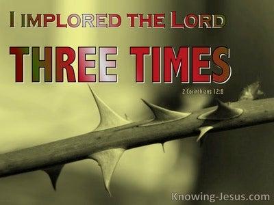 2 Corinthians 12:8  Three Times (sage)