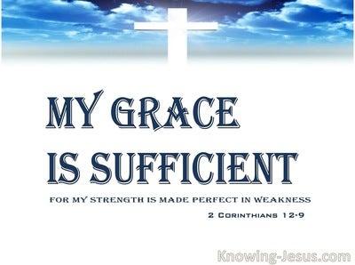 2 Corinthians 12:9 My Grace Is Sufficient (navy)