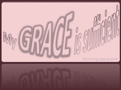 2 Corinthians 12:9 My Grace Is Sufficient (pink)