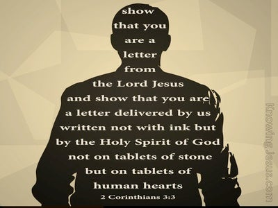 2 Corinthians 3:3 Letters Written On The Heart (black)