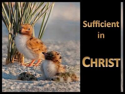 2 Corinthians 3:5 Sufficient In Christ (black)
