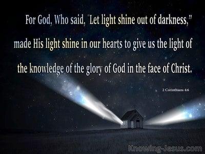 2 Corinthians 4:6 Let Light Shine Out Of Darkness (black)