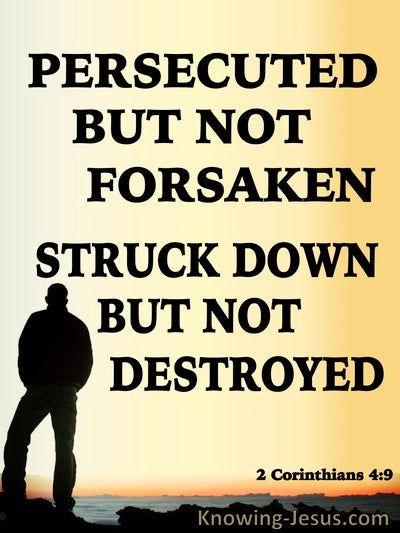 2 Corinthians 4:9 Persecuted But Not Destroyed (black)