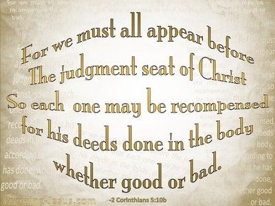 2 Corinthians 5:10 Judgement Seat Of Christ (beige)