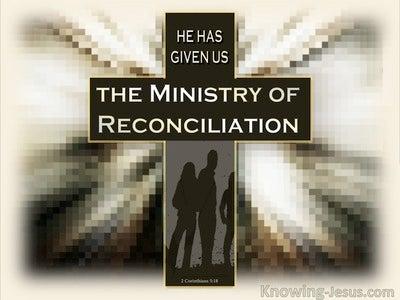 2 Corinthians 5:18 Be Reconciled (beige)