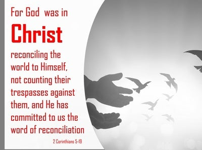 2 Corinthians 5:19 God Reconciling the World (red)