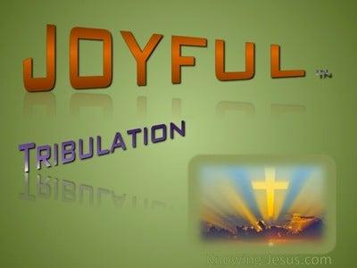 2 Corinthians 7:4 Joyful In Tribulation (green)