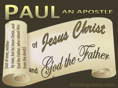 Galatians 1:1 Paul An Apostle (brown)