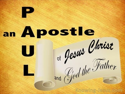 Galatians 1:1 Paul An Apostle (yellow)