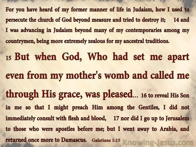 Galatians 1:15 Paul Set Apart And Called By God's Grace (red)