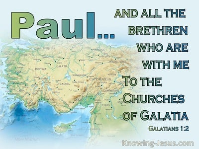 Galatians 1:2 To The Churches Of Galatia (green)