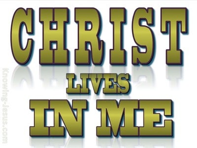 Galatians 2:20 Christ Lives In Me (green)