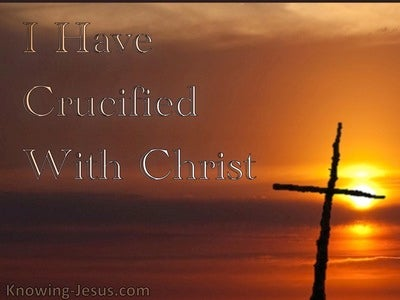 Galatians 2:20 Crucified With Christ (orange)