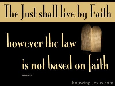 Galatians 3:12 The Law Is Not Based On Faith (beige)