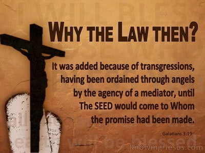 Galatians 3:19 Why The Law Then It Was Added Because Of Transgressions (brown)