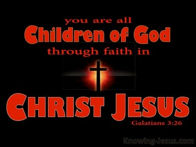 Galatians 3:26 Sons of God Through Faith in Christ (red)
