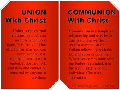 Galatians 3:27 Union and Communion WIth Christ