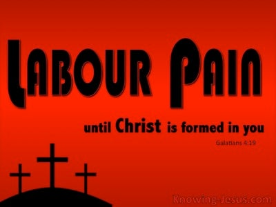 Galatians 4:19 Labour Pain (devotional)11-23  (black)
