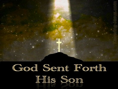 Galatians 4:4 God Sent Forth His Son (gold)