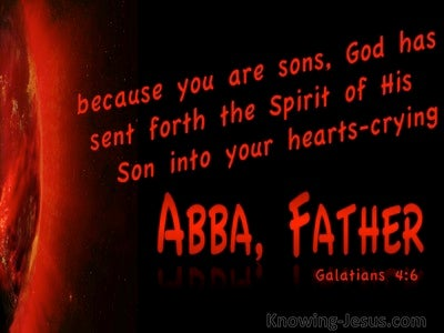 Galatians 4:7 Abba Father (red)