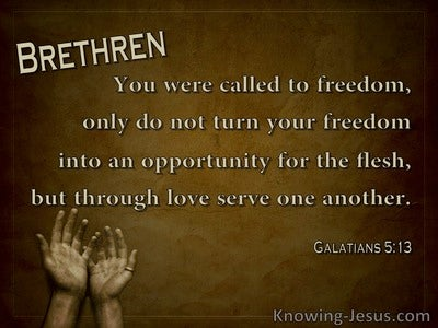 Galatians 5:13 You Were Called To Freedom (brown)