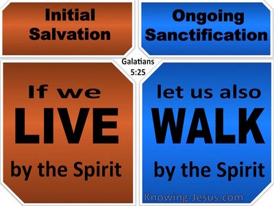 Galatians 5:25 Live And Walk By The Spirit (blue)