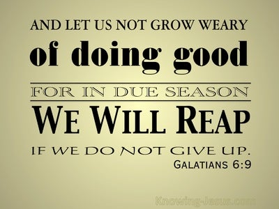 Galatians 6:9 Don't Grow Weary Of Doing Good (gold)