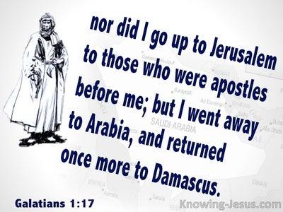 Galatians 1:17 Paul Went To Arabia (white)