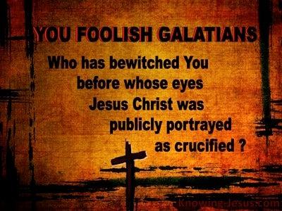 Galatians 3:1 You Foolish Galatian (brown)