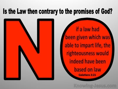 Galatians 3:21 Is The Law Contrary To God's Promises (red)