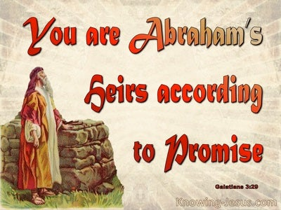 Galatians 3:29 Abraham's Heirs According To Promise (red)