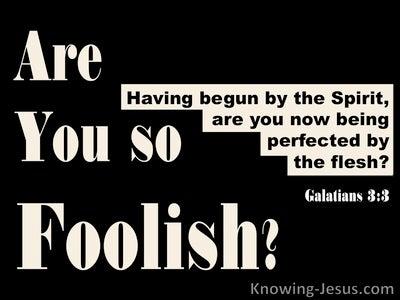 Galatians 3:3 Are You So Foolish (black)