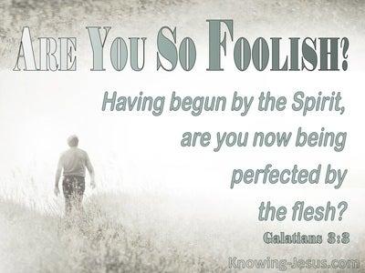 Galatians 3:3 Are You So Foolish (sage)