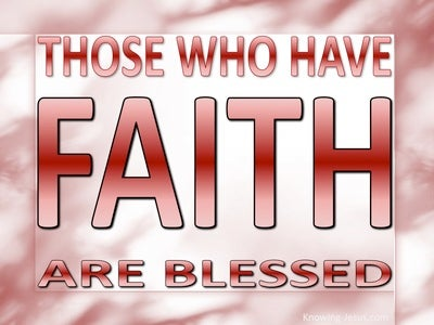 Galatians 3:9 Those Who Have Faith Are Blessed (red)