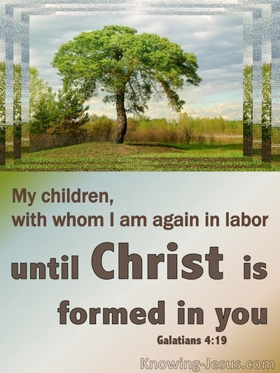 Galatians 4:19 Let Christ Be Formed In You (blue)